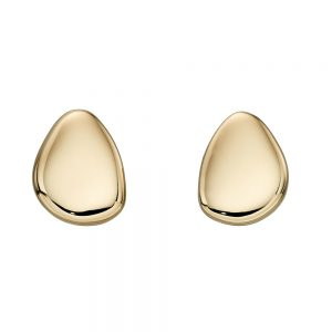 Elements Gold 9ct Yellow Gold Pebble Stud earrings