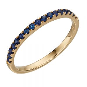 Elements Gold 9ct Yellow Gold Half Hoop Eternity Ring